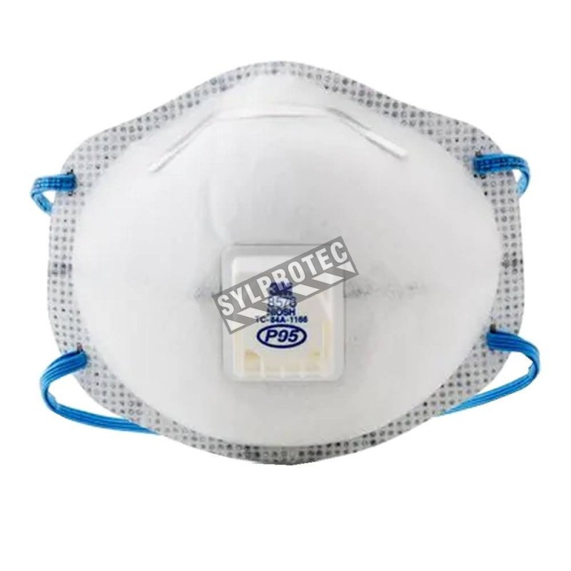 8576 3M P95 respirator with a Cool Flow™ valve for protection from oil based particles & acid gases. Sold per box, 10 units/box.