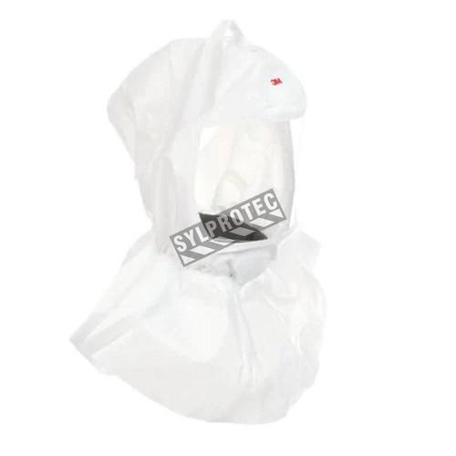 Cagoule blanche de rechange compatible avec l'arceau de tête RS950 pour protection respiratoire de série S par 3M. Taille unique