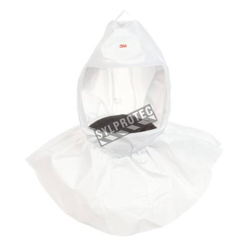 3M white polypropylene S-series spare hooded facepiece compatible with RS950 head harness for respiratory protection. One size.
