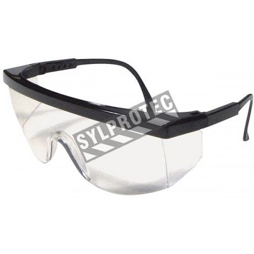 Cee Tec protective eyewear, clear polycarbonate lenses from Dentec Safety approved CSA for impact protection.
