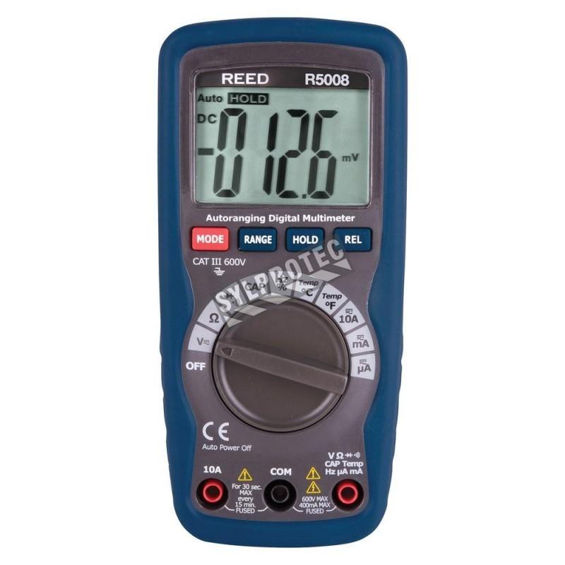 Multimètre c.a./c.c. a/température.