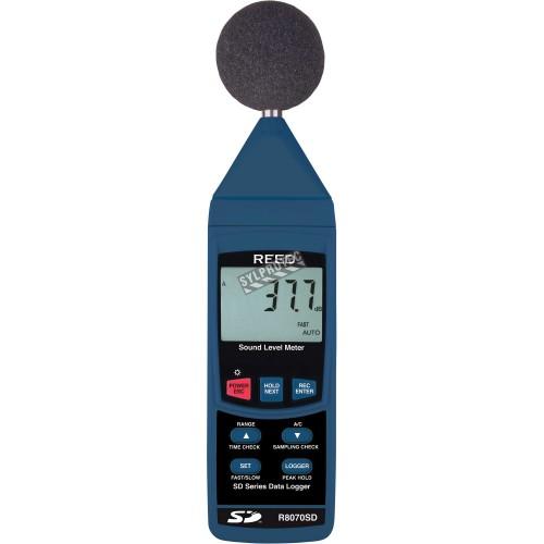 Sonomètre et enregistreur de données.