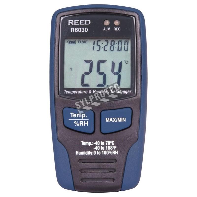 Enregistreur de données de température et d'humidité.