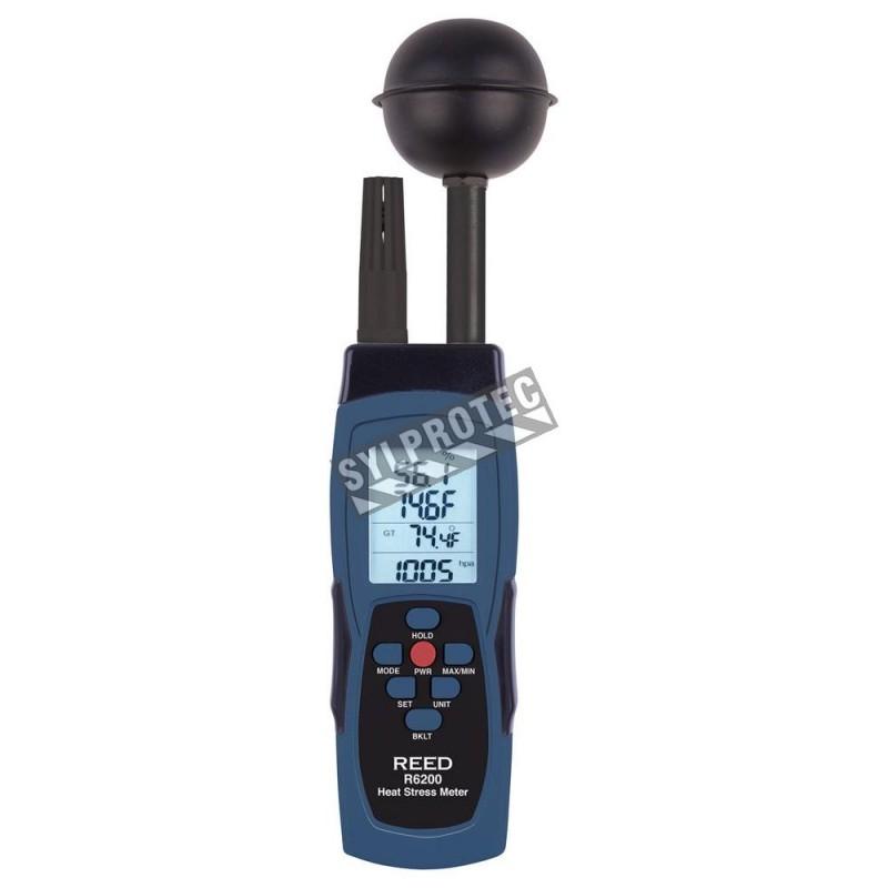 Compteur de contrainte thermique mesure la sensation de la température combinée à l'humidité.