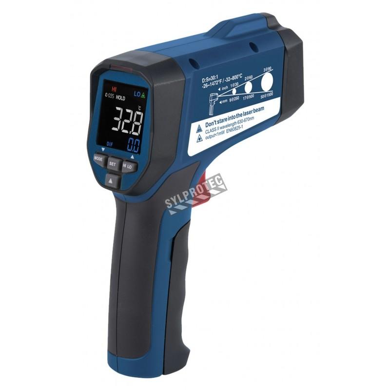 Thermomètre à infrarouge mesure -32 à 800 degré Celsius