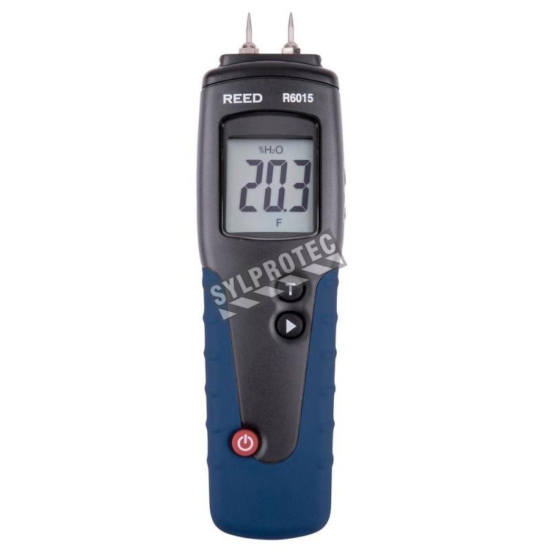 Détecteur d'humidité pour le bois, mesure avec broche ou avec sonde.