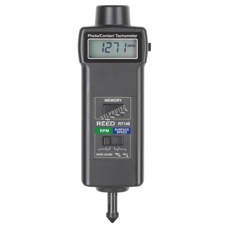 Tachymètre avec et sans contact, mesures de vitesse de rotation.