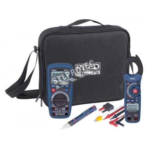 HVAC Combo Kit, includes multimeter, true RMS clamp meter, and others.