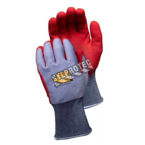 A4 cut resistant winter glove with foam nitrile coating and waterproof membrane