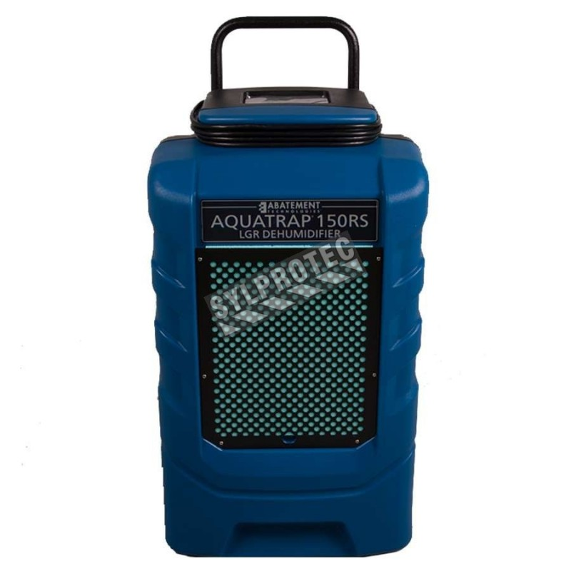 AQUATRAP high performance dehumidifier with a 354 cfm operating speed. Normal amps 7.5 A, ideal in conjunction with air movers
