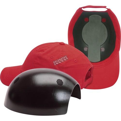 Casquette anti-choc (bump cap) ERB bleu marine à coquille intérieure en ABS. Protection légère contre les impacts.