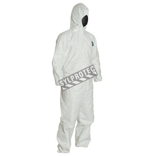 Disposable TYVEK 400  coveralls with hood, sold by unit