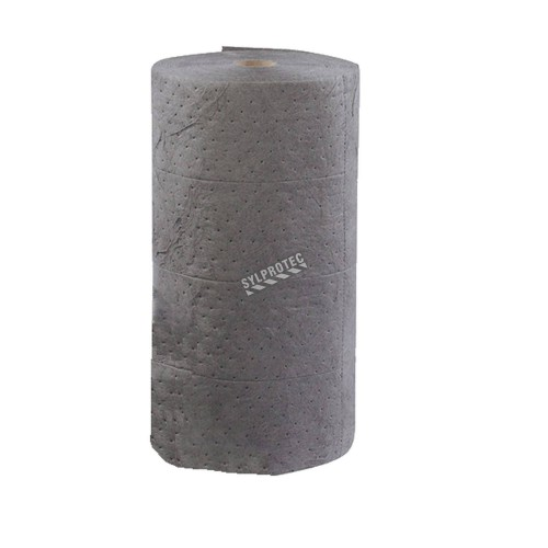 Universal absorbent roll for non-corrosive spills, 30 inches X 150 feet.