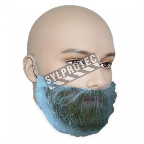 Blue beard net, 100 units.