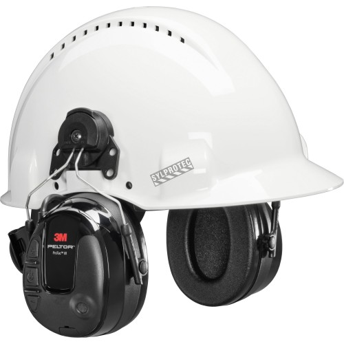 3M Protac III, hearing protection and environmental awareness, for safety helmet