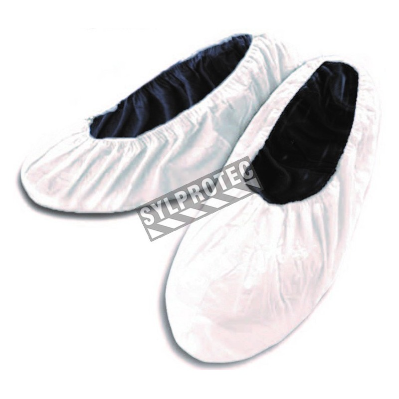 White shoes cover made of microporous with anti-slip, bt/300 unit