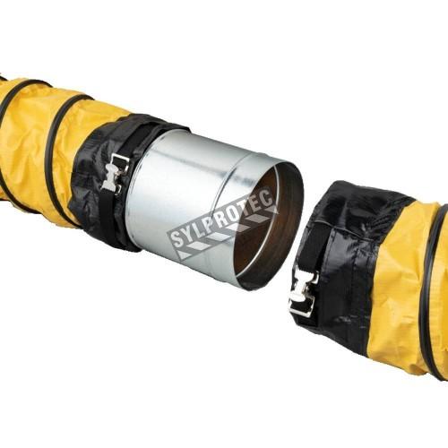 Connecteur en acier galvanisé pour conduit de ventilation flexible, diamètre offert, 8 po ou 12 po