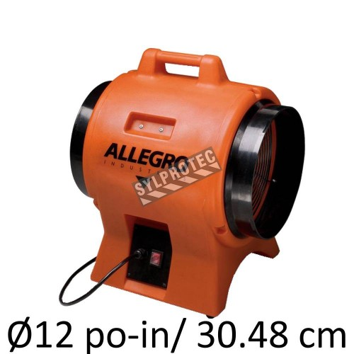 """Allegro 12"""" diameter axial fan with molded polyethylene shell without ducting"""