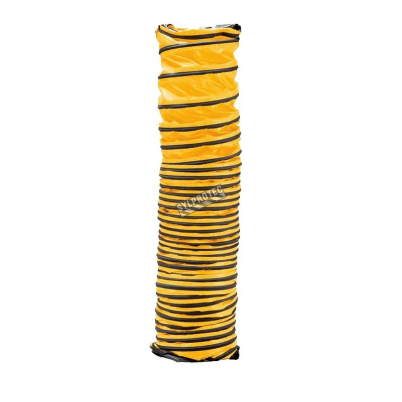 Conduit souple ayant 8 po / 20.32 cm de diamètre pour ventilateur axial, disponible en 2 longueurs 15 ou 25 pi.