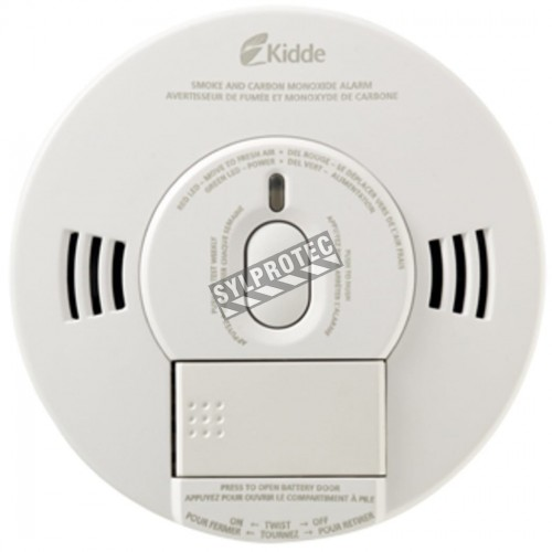 Photoelectric combined smoke and CO detector with 9V battery supply