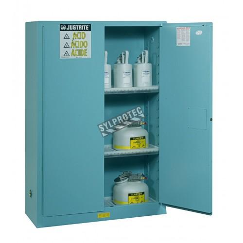 Armoire de 45 gallons US (171 L) pour acides et produits corrosifs , certifiée FM.