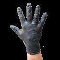 Gant sans poudre en nitrile noir d'une épaisseur de 4 mils. Taille: M (8) à XL (10). Vendu par boîte de 100 gants.