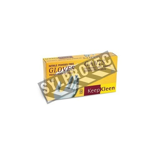 Keep Kleen® powder-free 8 mils nitrile gloves. CFIA & AAC approved. Size: S (7) to XXL (11). Sold per box, 50 units/box.