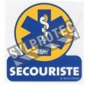 Affiche de secouriste arborant l'emblème du corps médical en vinyle autocollant pour une signalétique sur mesure