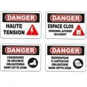 Affiches OSHA danger