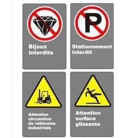 Affiches CSA Interdiction et attention