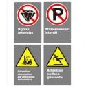 CSA warning and interdiction signs