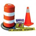 Cones and barricade tapes