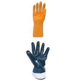 Gants réutilisables en nitrile, latex, néoprène, PVC, caoutchouc