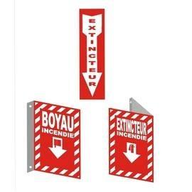Affiches reliées aux matériels d'urgences et contre les incendies