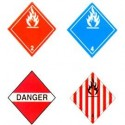 Placards for transportation of dangerous goods