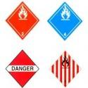 Plaques pour transport des matières dangereuses